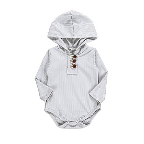 YWLINK Mono Capucha Bebé BotóN De Color SóLido