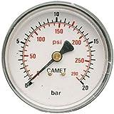 """Mecafer 152163 - Manómetro (50 mm de diámetro, 1/8"""" macho,  1/4"""" macho)"""