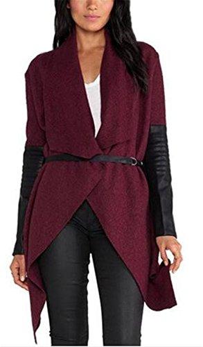 BESTHOO Damen Cardigan Langarmshirt Irregular Lose Mantel Outwear Tops Streetwear Kimono Irregulär Saum Outerwear Vintage Freizeit Jacke Fallen Winter (Cardigan Print Petite)