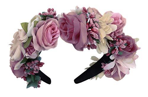 Moschen-Bayern Trachten Blumenkranz Haarreif Blumen Haare Haarband Haarschmuck Hochzeit Oktoberfest Rosa