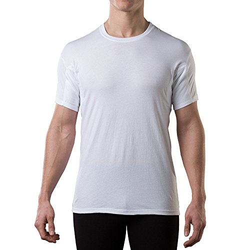 The Thompson Tee HydroShield Sweat Proof Undershirt - Original Fit - Men's Crewneck - White - XXXL (Tee Wieder)