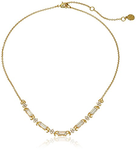 nicole-miller-thin-baguette-collar-gold-chain-necklace