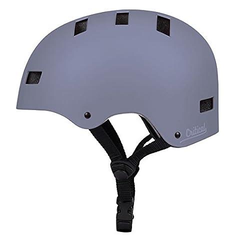 Critical Cycles 2447 Klassischer CM1 Helm mit 8Belüftungsöffnungen, Pendlerrad/Skate/mehrere Sportarten - Matt Schiefer, S/51 - 55 cm