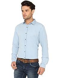 Bombay High Men's 100% Cotton Full Sleeve Denim Casual Shirt