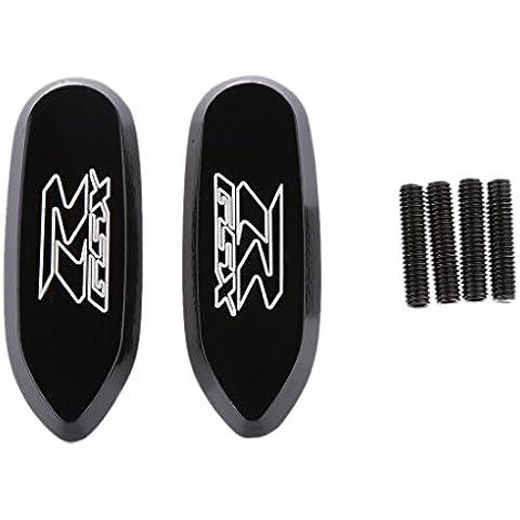 Bloque de Espejo Grabado Placas Base para Suzuki GSXR 600 750 1000 05-12