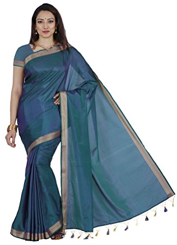 Mimosa By Kupinda Art Silk Saree Kanjivaram Stlye Color:Coffee (3350-MLI-01-GR-VLT)  available at amazon for Rs.599