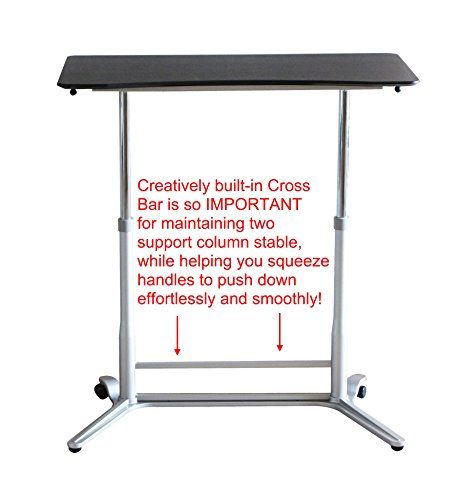 Cheap Ergoneer Affordable Height Adjustable Sit to Stand Workspace – Manually Height Controllable Standing Desk for Healthy Working – Movable Standing Workstation for Multiple Uses (Espresso) on Amazon
