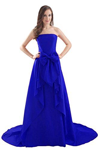 Bridal_Mall -  Vestito  - Senza maniche  - Donna Royal Blue
