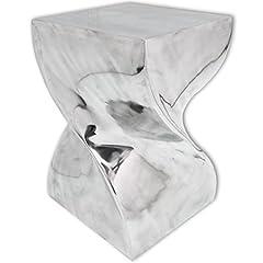 Idea Regalo - Festnight Tavolino da Salotto Design Moderno,Tavolino Laterale da Salotto Design Moderno,Tavolino da caffè Design Moderno Forma Attorcigliata in Alluminio Argentato 29 x 29 x 46 cm