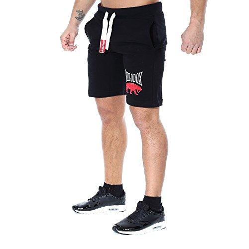 SMILODOX Shorts Herren | Kurze Hosen für Sport Fitness Gym Training & Freizeit | Jogginghose - Freizeithose - Trainingshose - Sweatpants Jogger - Sporthose Kurz Schwarz