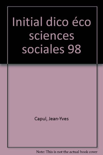 DICTIONNAIRE D'ECONOMIE ET DE SCIENCES SOCIALES