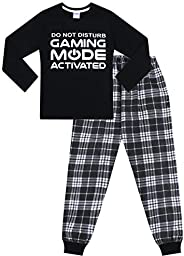 "The PyjamaFactory, Pigiama lungo in tessuto con motivo ""Do Not Disturb Gaming Mode Activ"