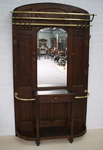 H. Packmor GmbH Garderobe Jugendstil Eiche dunkel Antik Flurgarderobe 118 x 210 x 35 cm