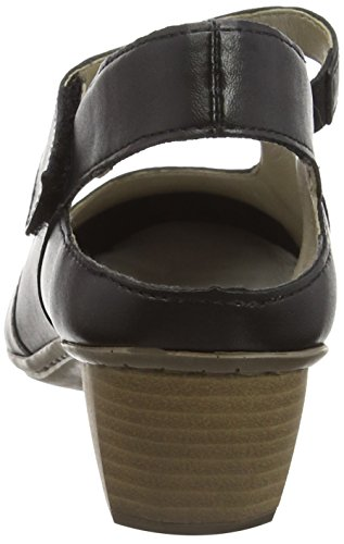 Rieker - 41779, Scarpe col tacco con cinturino a T Donna Nero (Nero/schwarz / 00)