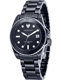 Swiss Eagle Reloj de cuarzo Man Dive Negro 40 mm