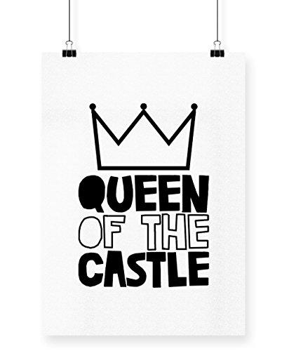 hippowarehouse Königin der Castle Poster Druck Wall Art Design A3 weiß