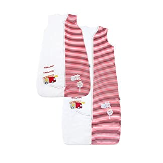 Saco de dormir de verano para bebé Slumbersac 1.0 Tog AOP Elefante Rosa 0-3 meses/56cm