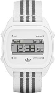 Adidas Unisex Digital Designer White & Grey Canvas Strap Watch ADH2732