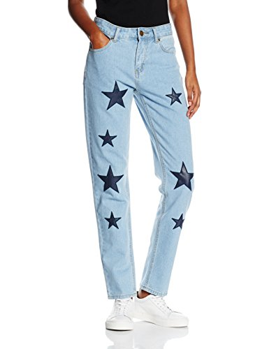 Boohoo Star Print, Jeans Donna Blu (Blue)