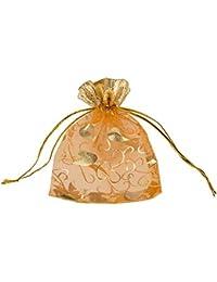 Jaipur Craft Silk Festive Gift Pouch (8 cm x 10 cm x 10 cm, Gold)