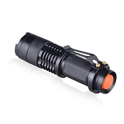MissGao Adjustable Focus Mini Flashlight CREE Q5 2000 Lumens LED Flashlight Torch Lantern AA 14500 Torch Linterna LED Mount -