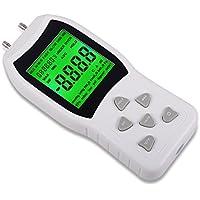 Ehdis Profesional digital doble puerto manómetro presión de aire calibrador diferencial probador con 11 unidades de medida +/- 13.78kPa +/- 2 psi