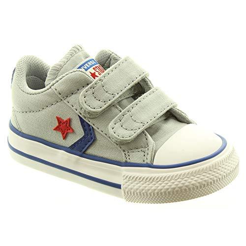 Converse calzature sportive bambino, color grigio, marca, modelo calzature sportive bambino star player 2v ox grigio