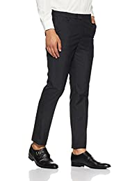 Arrow Men's Pleat-Front Poly Viscose Formal Trousers