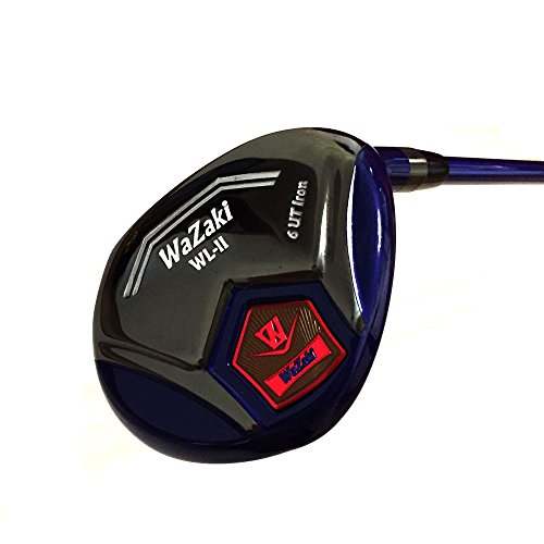 japan-wazaki-wl-iis-black-oil-finish-matrixsteel-hybrid-iron-golf-club-leather-cover27-degree-regula