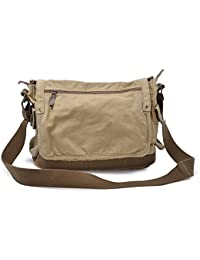 Gootium Canvas Shoulder Bag - Vintage Cross Body Messenger Bag Mens Satchel  15.6