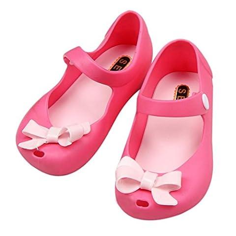 ZJENE , {Chaussures premiers pas pour bébé (garçon) or doré - rouge - Red,