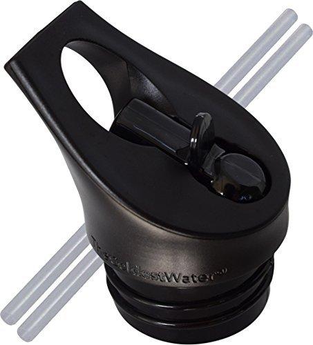 Die kühlste Wasser Standard Größe Mund Hydro Sport Stroh Cap Flip Top Deckel - Multi-kompatibel mit Standard Flasche Mund Größe Edelstahl Wasserflaschen Stroh Top
