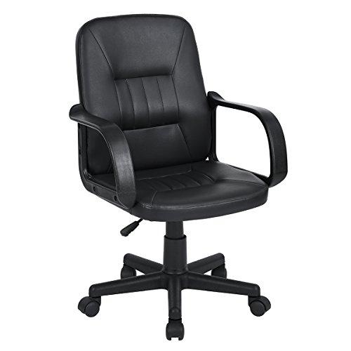 ihouse Drehgelenk verstellbar Ergonomische Mesh Computer Schreibtisch midback Home Aufgabe Stuhl mit Armlehne (schwarz) schwarz -