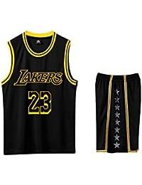 runvian Lebron James, Pantaloncini da Basket per Bambini Uniform Kids T-Shirt Pantaloncini Lakers