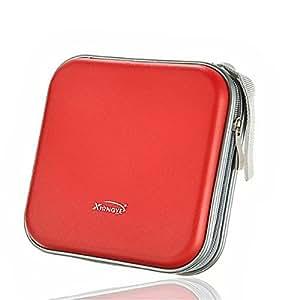 New Portable Plastic 40/80 Disc CD DVD Wallet Storage Organizer Bag Case (As shown)