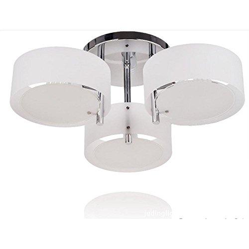 Lonfenner Moderne Aleck Runde Deckenleuchten Deckenleuchte Lampe Schlafzimmer Wohnzimmer Lampe-Stil Decke Lampe drei Wohnzimmer (60cm*24) , 3 head