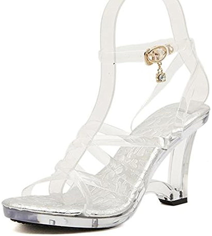 7a30fd3735b0 OCHENTA Women s Rhinestone Comfort Dress Dress Dress Low Heel Platform  Sandals B077VRTFN1 Parent 6e72df