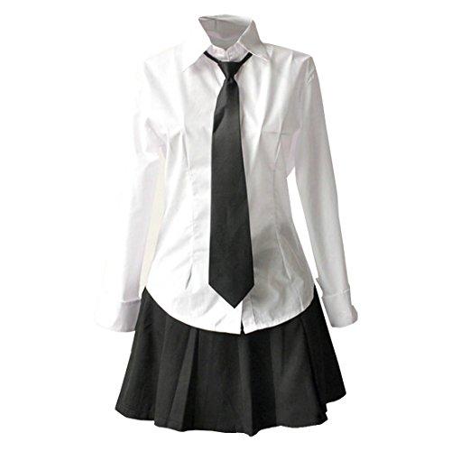 Partiss Japan Schuluniform Maedchen Kostuem Cosplay Lolita gotische Langarm Anzug Mantel Bluse mit Faltenrock fuer Party(Tag M/EU (Mädchen Kostüme Frauen Gotische)
