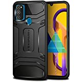 KAPAVER® Rugged Back Cover Case for Samsung Galaxy M21/M30s MIL-STD 810G Officially Drop Tested Solid Black Shock Proof Slim Armor Patent Design