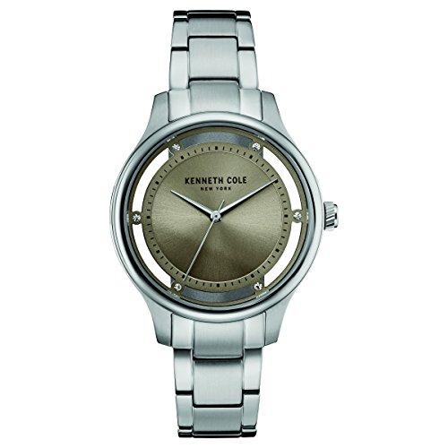 Kenneth Cole New York Damen-Armbanduhr Analog Quarz Edelstahl 10030795 (Armbanduhr Cole Kenneth Wasserdichte)