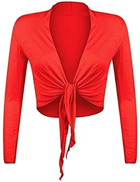 Glamexx24 BL0001 - Elegante bolero de punto de manga larga para mujer