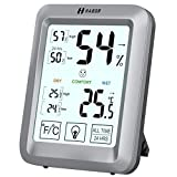 Habor Thermometer Hygrometer, Touchscreen Thermo-Hygrometer, Hygro-Thermometer mit Hintergrundbeleuchtung, Innen-Thermometer und Hygrometer mit LCD-Anzeige für Babyraum, Wohnzimmer, Büro, usw.
