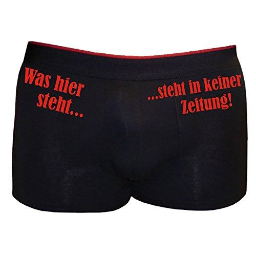 Boxershort Herren Unterhose mit Spruch ..STEHT in keiner - Lustig Herren Boxershorts