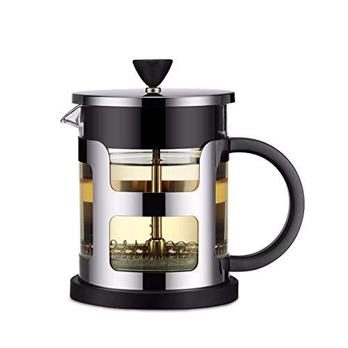 WWSUNNY French Press Edelstahl Kaffeekanne Maker Glas Teekanne Mit Teesieb Filter Wasserkocher...