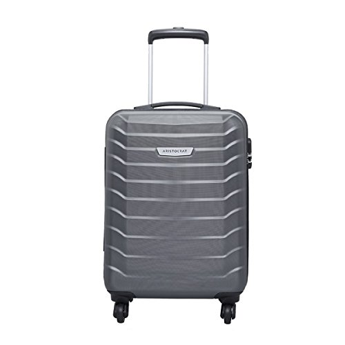 Aristocrat Juke Polycarbonate 55.5 cms Grey Hard Sided Carry-On (JUKE55TMGP)