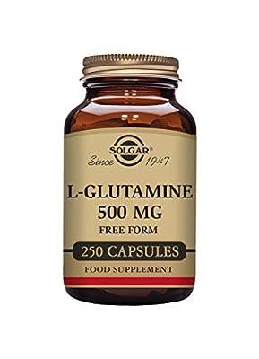 Solgar L-Glutamine 500 mg Vegetable Capsules - Pack of 250