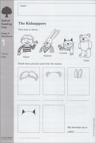 Oxford Reading Tree: Level 8: Workbooks: Workbook 1: The Kidnappers and Viking Adventures (Pack of 6)