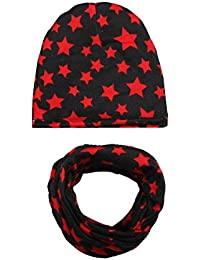 Tukistore otoño Invierno bebé Beanie Bufandas Conjunto cálido bebé niños  algodón Gorra de Invierno Sombrero + 753423d9e19