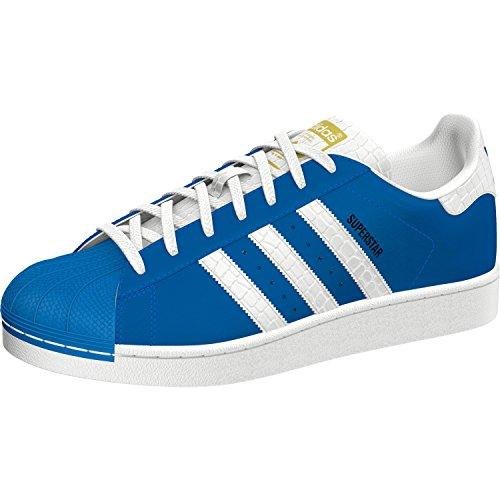 adidas Originals Superstar Sneaker S75881 Ray Blue/White Gr. 38 2/3 (UK 5,5)