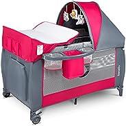 Lionelo Sven Plus 2en1 Cuna de Viaje y Parque de bebés 125 x 65 x 77 cm 0-36M para niños hasta 15 kg Función d
